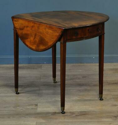 Attractive Antique Victorian Mahogany Occasional Oval Side Hall Pembroke Table