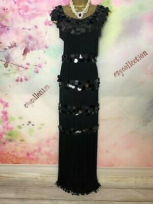 Phase eight outstanding Black maxi long length dress Size 16 party/occasion