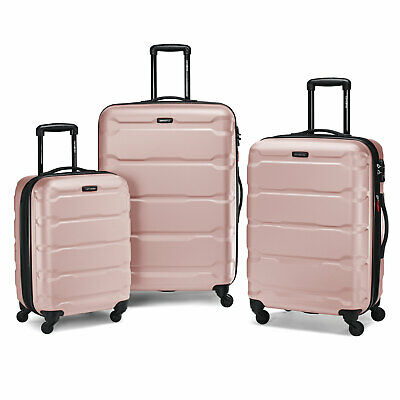 "Samsonite Omni 3 Piece Hardside Luggage Nested Spinner Set (20""/24""/28"") Pink"