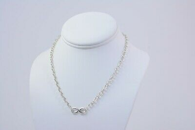 Tiffany & Co Sterling Silver Large Links Infinity 16 Inches Necklace (NJL017049)