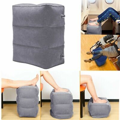 Inflatable Travel Flight Air Pillow Foot Rest Kids Bed Leg Up Footrest Office O
