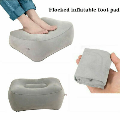 Inflatable Foot Rest Travel Air Pillow Cushion Leg Up Footrest Portable Relax O