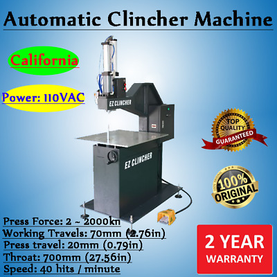 110V EZ Clincher Riveting Machine Automatic Metalworking Riveting Machine
