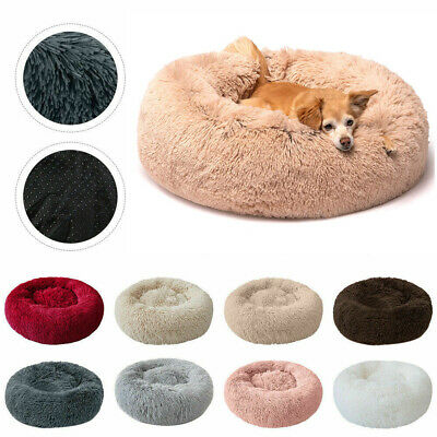 Comfy Calming Dog Bed Cat Bed Round Super Soft Plush Pet Bed Marshmallow Cat Bed