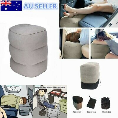 Inflatable Travel Pillow for Foot Rest Airplanes Kids to Sleep on Long Flights