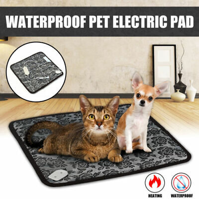 Pet Waterproof Heated Warmer Bed Pad Puppy Dog Cat Bed Electric Heater Mat US