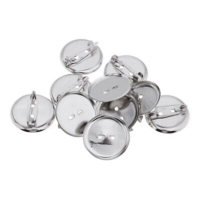 23MM Metal Brooch Base Pins Pin-Back Button Parts Brooch Clasps 10x