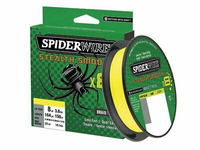 Spiderwire Stealth Yellow 135M 6Lb//0,10mm Geflochtene Angel Schnur Gelb Sha