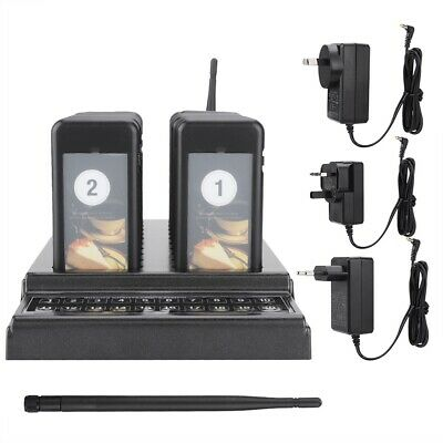 Restaurant Guest Wireless Waiting Calling Queue System Transmitter 20 Pager Cafe
