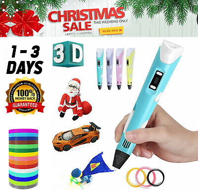 3D Printing Pen Crafting Doodle Drawing Arts Printer PLA/ABS Filaments For Kids