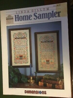 Dimensions Cross stitch Pattern called Home Sampler by Linda Gillum
