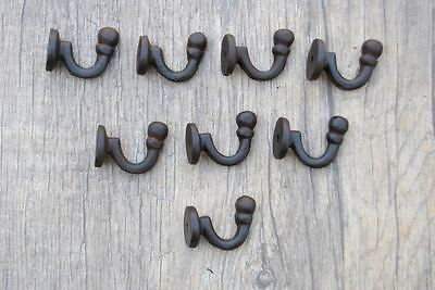 8pcs vintage salvage iron coat bath robe hanger library school house hooks lot