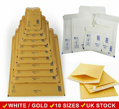 Arofol Padded Bubble Envelopes Bags White Or Gold Mailers Mailing Bags All Sizes