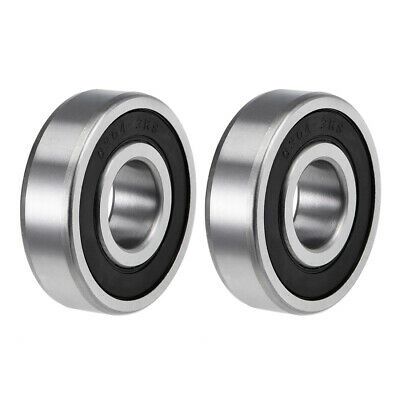 6304-2RS Deep Groove Ball Bearings Z2 20x52x15mm Double Sealed Carbon Steel 2pcs