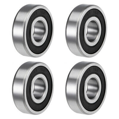 6304-2RS Deep Groove Ball Bearings Z2 20x52x15mm Double Sealed Carbon Steel 4pcs