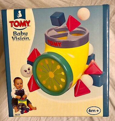 Tomy Happy Shape Sorter Baby Vision Toddler Toy New