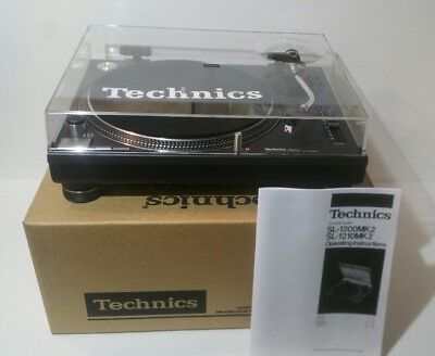 Technics 1210 1200 mk2 Turntable mint condition NEW Technics dust cover