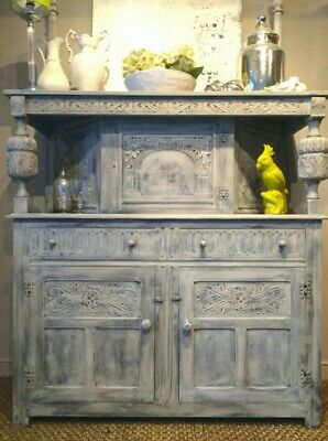 SOLID OAK sideboard dresser * Vintage * Annie Sloan painted * A Beautiful Piece