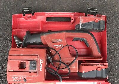 Hilti WSR 650-A cordless reciprocating saw 2 batteries charger and case