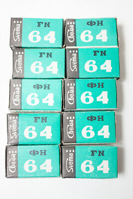 5 rolls 35m black and white film Svema FN64 Foto64 Soviet negative expired film