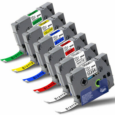 6x TZ-131 231 431 531 631 731 Compatible Label Tapes for Brother P-Touch PT-D210