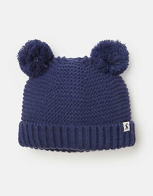 Joules Baby Pom Pom Knitted Hat in FRENCH NAVY
