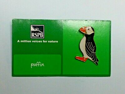 RSPB Puffin Pin Badge A Million voices for Nature green card