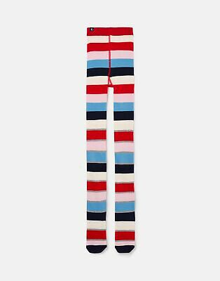 Joules Girls Anikins Character Tight in RED STRIPE