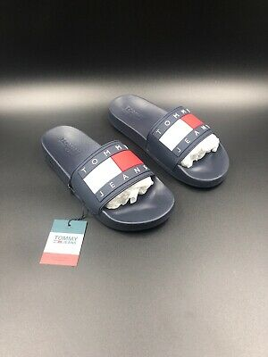 TOMMY JEANS FLAG Pool Mens Midnight Navy Synthetic Slide