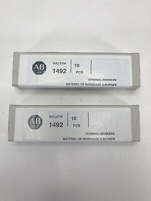 LOT OF 2 BOXES Allen-Bradley 1492-MP Ser A  Terminal Markers Quantity 20