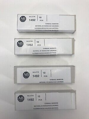 LOT OF 4 BOXES Allen-Bradley 1492-MP-3 Ser A  Terminal Markers Quantity 40