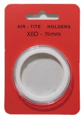 1 Airtite Coin Holder Capsule White Ring 39 Mm High Relief - Model X6D