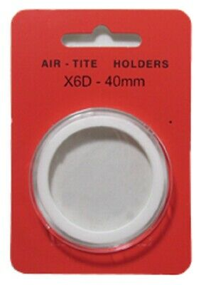 1 Airtite Coin Holder Capsule White Ring 40 Mm High Relief - Model X6D