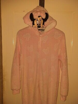 Disney Minnie Mouse Pink Fleece All In One Sleepsuit Age 14 - 15 Years