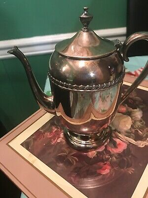Antique SHERIDAN Silver_on_Copper TeaPot /Coffee Pot with lid, BARELY USED
