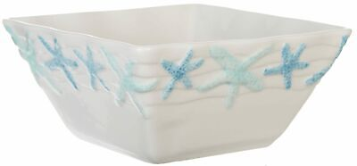 Gibson Cape Coral Starfish Bowl One Size White/blue