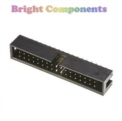 5 Pack - 34 Way IDC Box Header Connector - Straight - 2.54mm - 1st CLASS POST