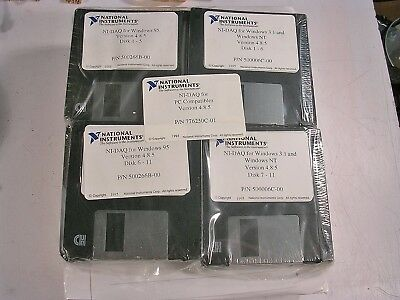 National Instruments  Ni-Daq For Pc Software With Manuals  Nos