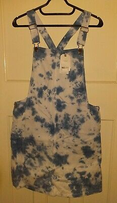 BNWT Girls NEXT Casual Denim Pinafore Dress Age 16 Years New