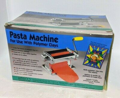 Amaco Craft Clay Pasta Machine For Use with Polymer Clay & Soft Metal Sheets