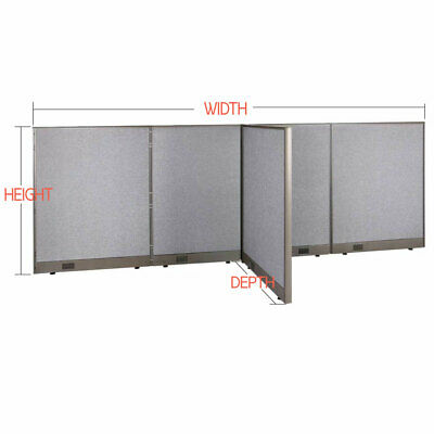 "GOF T-Shaped Freestanding Office Partition Panel, Room Divider, 60""H"