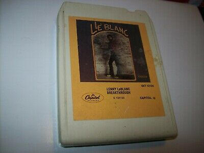 "Lenny LeBlanc-""Breakthrough"" (8 Track Tape) (EX) 1981 & Pete Carr NEEDS FELT PAD"