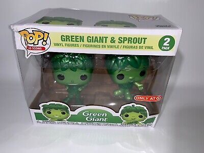 Funko Pop! Ad Icons Metallic Green Giant and Sprout Target Exclusive Bad Box