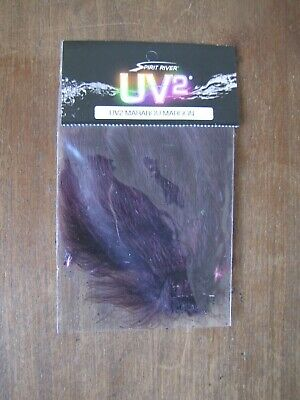Fly Tying Spirit River UV2 Jailhouse Marabou Black//White
