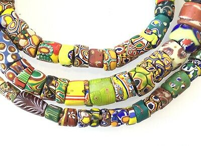 Amazing  old Venetian Antique Millefiori Glass African Trade beads-Ghana