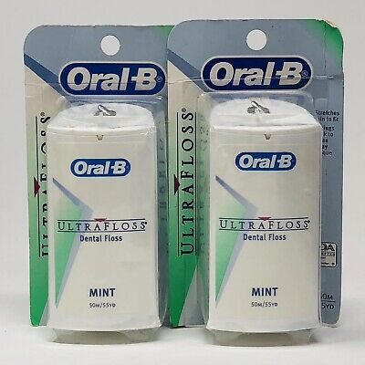 (2) Oral-B Ultra Floss Mint 55yd (110 total yds) NOS