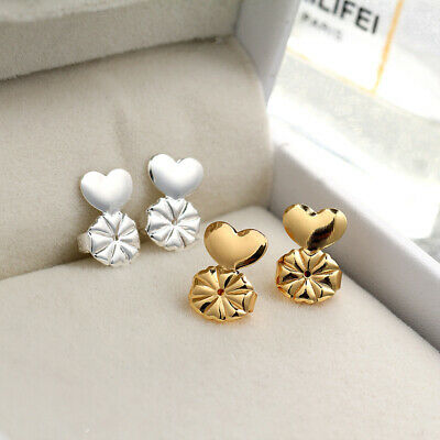 2 Pairs Fashion Magic Earring Backs Lifter Support Lifts Ear Push-back Jewelry