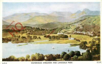 Picture Postcard:;English Lake District, Waterhead Ambleside And Langdale Pikes