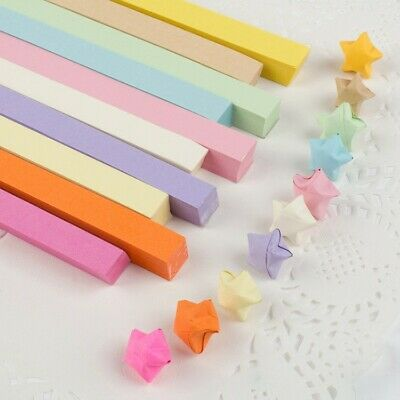 540 pieces - 10 soft color comb ORIGAMI LUCKY STAR PAPER- new stock