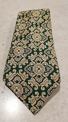 Vintage Retro Green and Gold Tie
